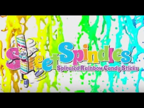 SWEET SPINDLES | Hard Candy Rainbow Sticks
