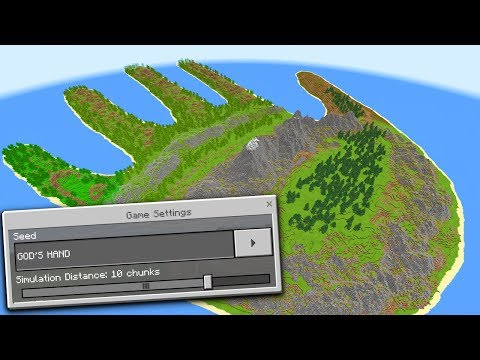 STRANGE HAND ISLAND in Minecraft Pocket Edition (HAND SEED)
