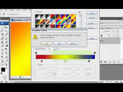 How to use the Gradient tool in PhotoShop - Adobe Photoshop Tutorials