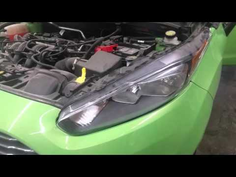 How to replace, change headlight bulbs on a 2011-2016 Ford Fiesta