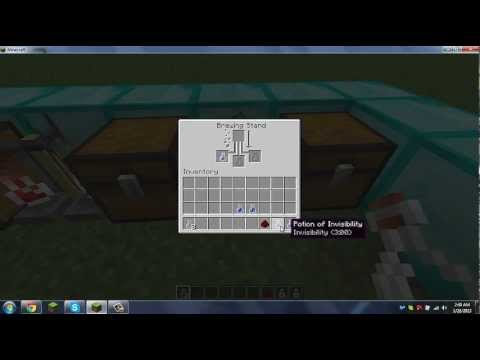Minecraft- How to make an Invisibility Potion 8 min [Tutorial] [Gameplay]