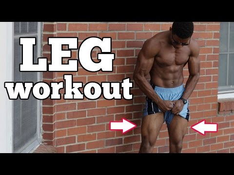 10 Min. Home Bodyweight Leg Workout - Follow Along