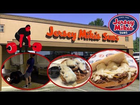 Eat Hard Workout Harder Episode 1 | Deadlifts | Jersey Mike's Big Kahuna Cheese Steak