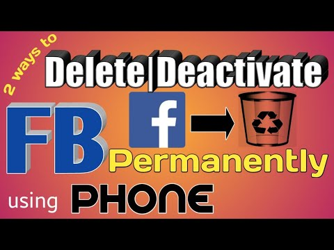 How to delete FB account permanently on mobile 2018 | Delete | Deactivate Facebook permanently 2018