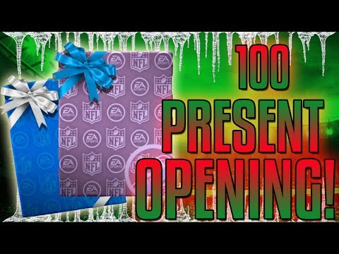 90+ PULLS!-100 PRESENT OPENING!-Ultimate Freeze-Madden Mobile 18