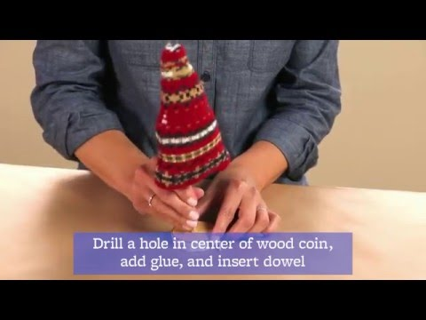 Make Christmas Tree Centerpieces With Sweaters!