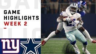Giants vs. Cowboys Week 2 Highlights | NFL 2018