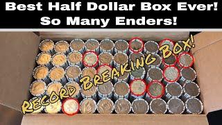 Mega!  Epic!  Best Half Dollar Box Hunt Ever - Rolls of Silver & Enders!