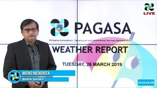 Download Public Weather Forecast Issued at 4:00 AM March 26, 2019 Video