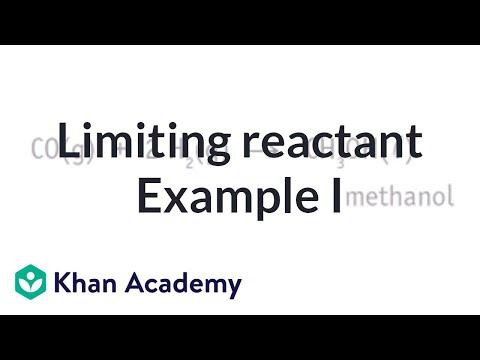 Limiting reactant example problem 1   Chemistry   Khan Academy