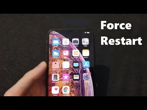 Force Restart iPhone XS & XR (iOS 12)