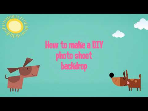 How to create a DIY photoshoot backdrop