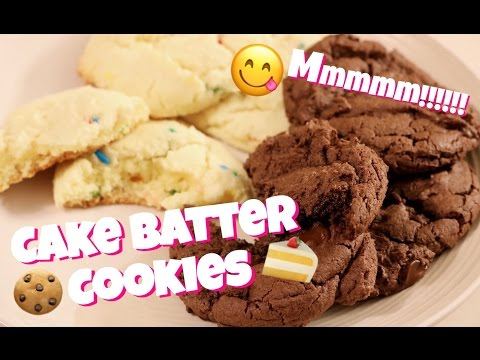 Cake Batter Cookies : Super Easy Cake Mix Cookies