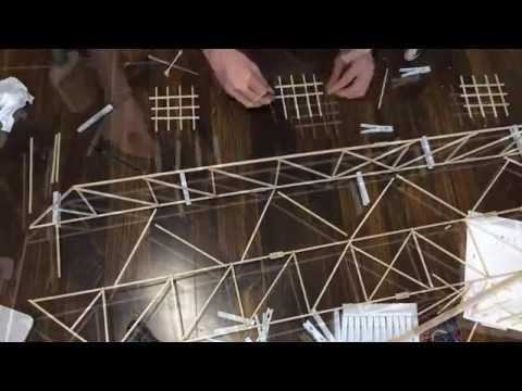 Building of a Balsa Wood Bridge (Time-Lapse)