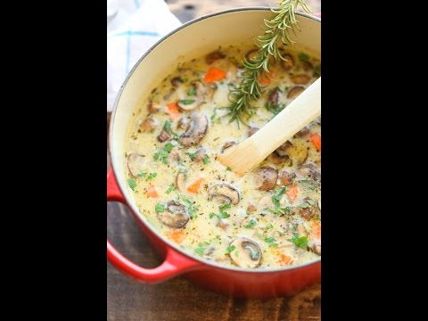 Bobbi's Kitchen - Creamy Mushroom and Chicken Soup