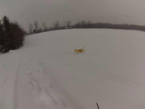 Flyzone Super Cub in snow storm