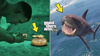 GTA 5 - Playing as a Megalodon Shark (Golden Peyote Location)
