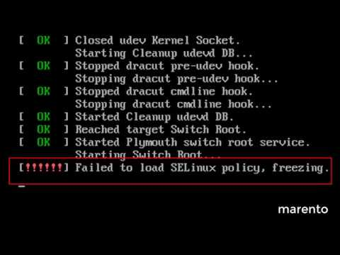 Failed to load selinux policy, Freezing | CentOS | Redhat | RHEL