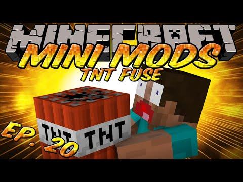 Minecraft Mini Mods Ep. 20 - TNT Fuse Mod - C4 in Minecraft