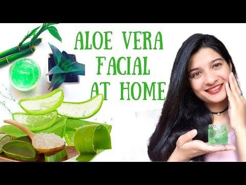 Aloe Vera Facial at Home to get Clear Glowing Skin | Remove Suntan, dark spots naturally | AVNI