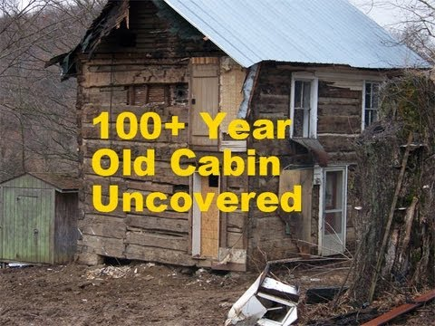 100+ Year Old Log Cabin Uncovered