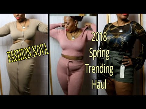 Fashion Nova 2018 Spring TRENDING WEAR Try-On Haul