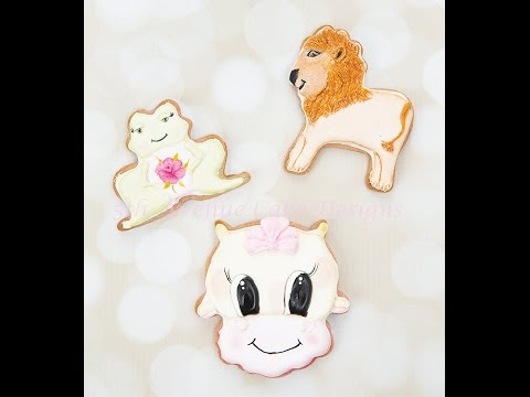 How to Decorate Animal Baby Shower Cookies 👶🍼🐨🐸