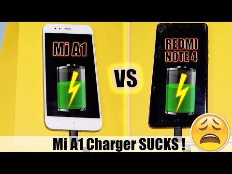 Mi A1 vs Redmi Note 4 : Battery Charging Test !(Shocking Charging Speed of Mi A1)
