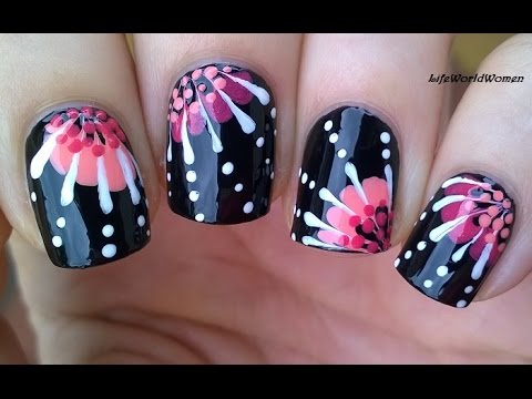 TOOTHPICK NAIL ART #14 - No Tool Floral Nails For Beginners
