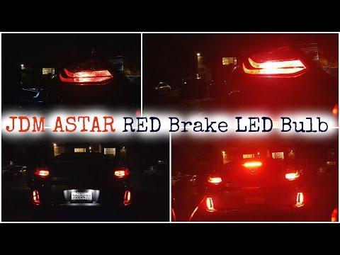 JDMASTAR Extremely Bright Max 50W RED Brake LED Bulb