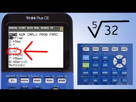 TI 84 Plus CE: Solving Square Roots and Other Radicals