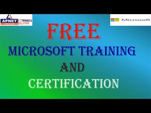 Get Free Microsoft Training and Certifications. Its totally free