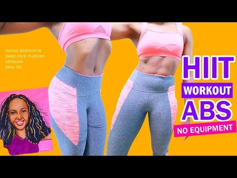 HIIT WORKOUT ABS - 10 Quick Exercises ➟ Get a Flat Stomach - No Equipment Home Workout