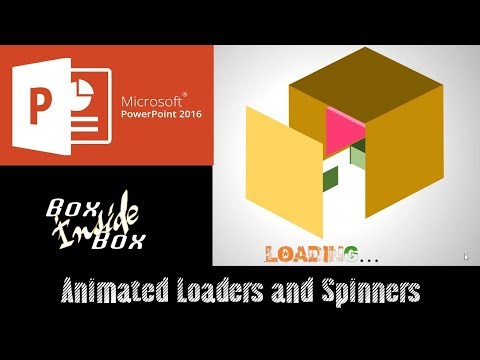 Box Inside Box Animated Loader and Spinner in PowerPoint 2016 | The Teacher