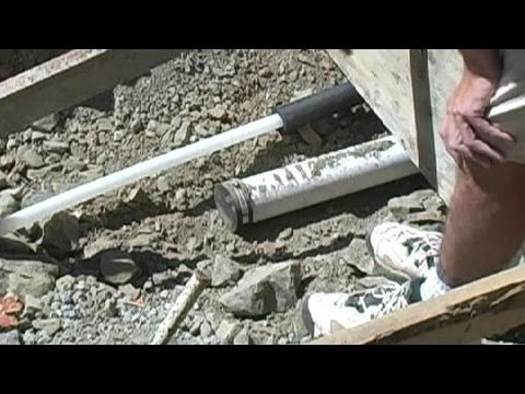 How to Install Plumbing in a Concrete Slab and foundation