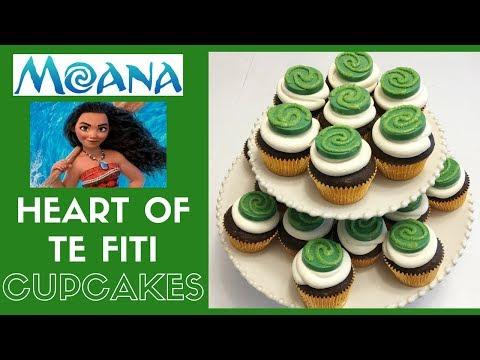 How to Make Moana Heart of Te Fiti Cupcakes