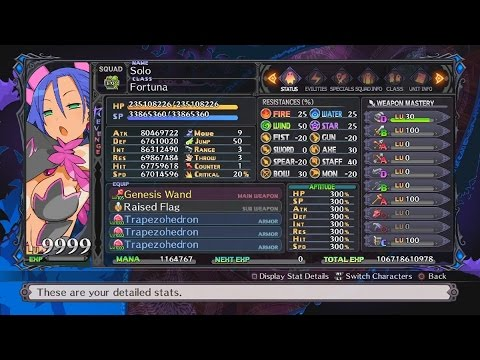 Disgaea 5: Alliance of Vengeance - LV 9999 In Less Than 10 Seconds! (Sage Class)