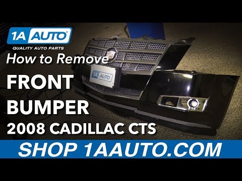 How to Remove Replace Front Bumper 2008 Cadillac CTS