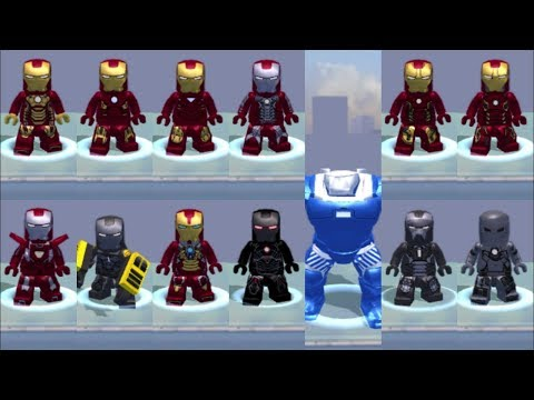 Lego Marvel's Avengers (PS Vita/3DS/Mobile) All Iron Man Characters/Suits Unlocked/Showcased