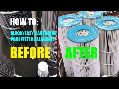 EASY! How to clean a cartridge pool filter: Pentair Clean and Clear Plus