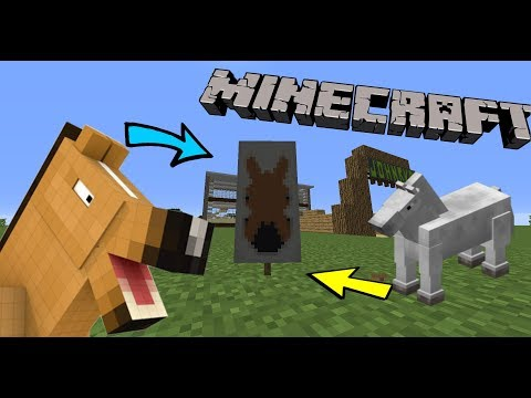 How to make a Horse Banner in Minecraft!!