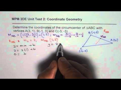 How to Find Coordinates of Circumcentre of a Triangle IB Test