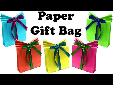 DIY Paper Gift Bags | Gift Boxes | Christmas Gift Wrapping
