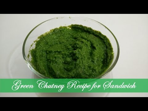 Green Chutney for Sandwich Recipe in Hindi By Cooking with Smita