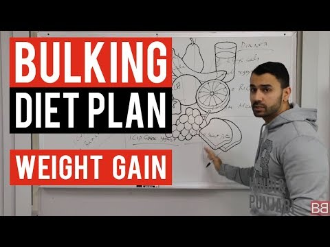 Bodybuilding BULKING WEIGHT GAIN DIET PLAN! (Hindi / Punjabi)