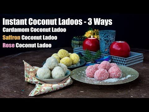 5 Mins Instant Coconut Ladoo Recipe | Nariyal Ladoo |  Easy Indian Sweets and Desserts