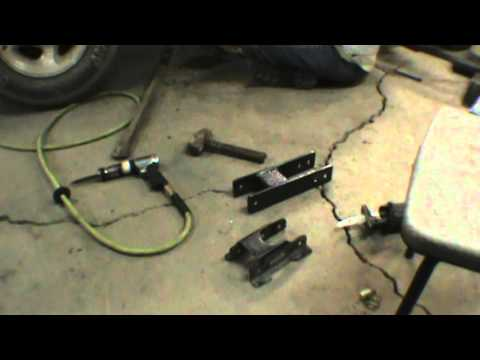 installing home made shackles in a ford explorer