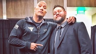 "The Rock and ""Stone Cold"" Steve Austin backstage at Raw"