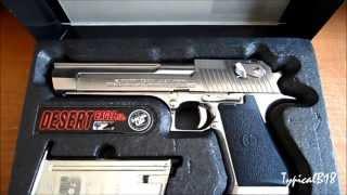 Tokyo Marui Desert Eagle .50AE Chrome Stainless Steel Hard ABS Plastic Kick Blow Back Airsoft Pistol