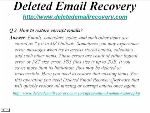 MS Outlook Deleted Mail Recovery